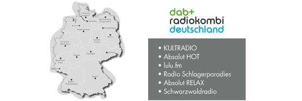 Sendegebiet DAB+ Radiokombi Deutschland