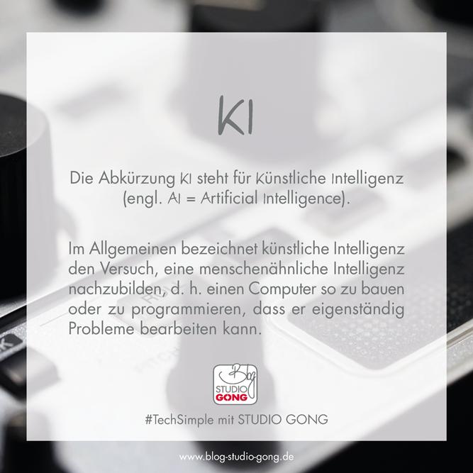 Beitragsbild #TechSimple KI AI