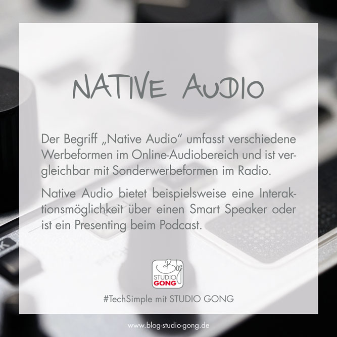 "#TechSimple - Begriff ""Native Audio"""