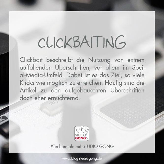 """Beitragsbild zu Artikel """"#TechSimple - Clickbaiting"""""""
