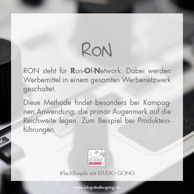 """Beitragsbild Artikel """"#TechSimple - RON"""""""