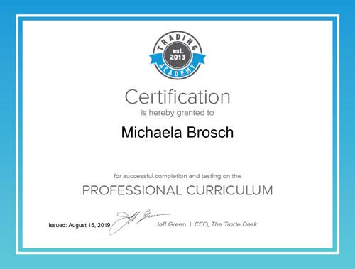 "Beitragsbild ""Zertifikat Michaela Brosch)"