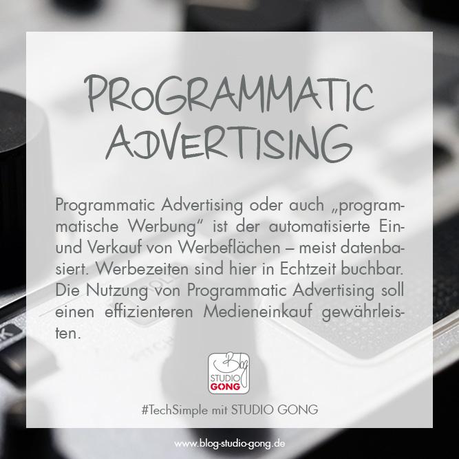"""Beitragsbild zum Artikel """"#TechSimple - Programmatic Advertising"""""""
