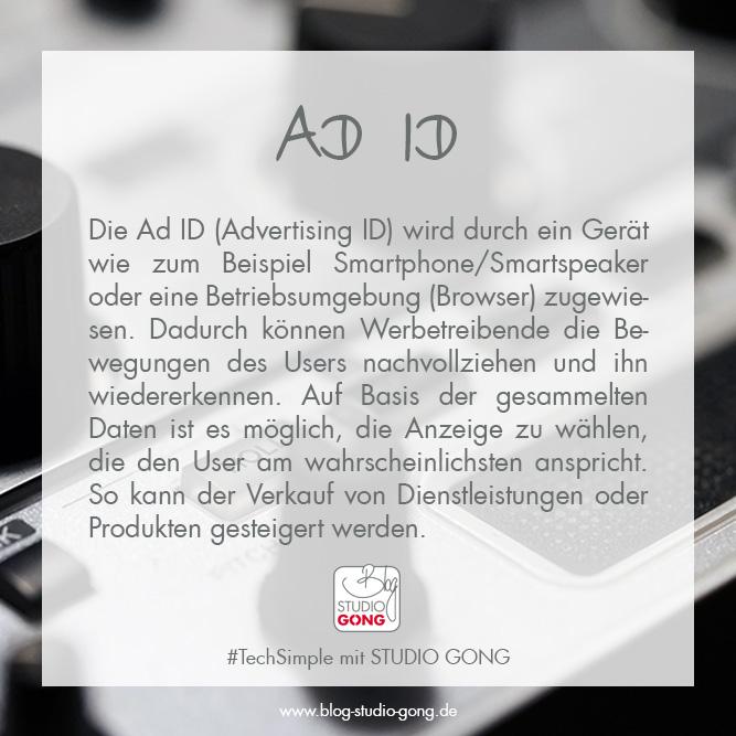 """Beitragsbild zum Artikel """"TechSimple - Ad ID"""""""