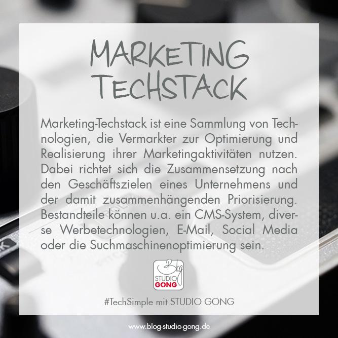 """Beitragsbild zum Artikel """"Marketing Techstack"""""""