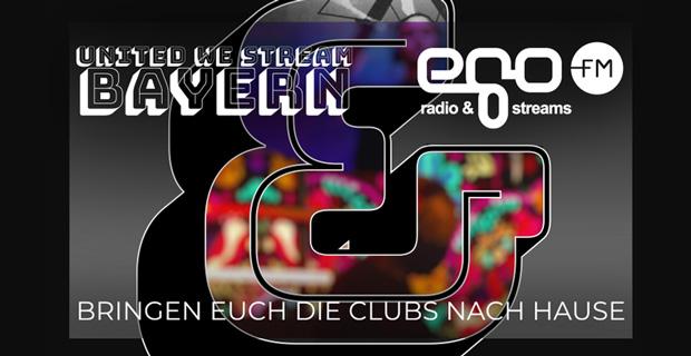 """Beitragsbild zum Artikel """"egoFM und United We Stream Bayern bringen Clubs ins Wohnzimmer"""""""