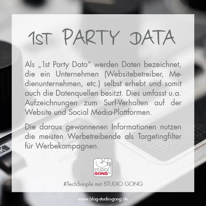"""Beitragsbild zum Artikel """"#TechSimple - 1st Party Data"""""""