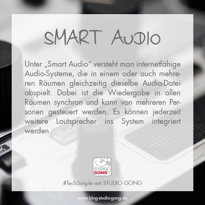 """Beitragsbild zum Artikel """"#TechSimple - Smart Audio"""""""
