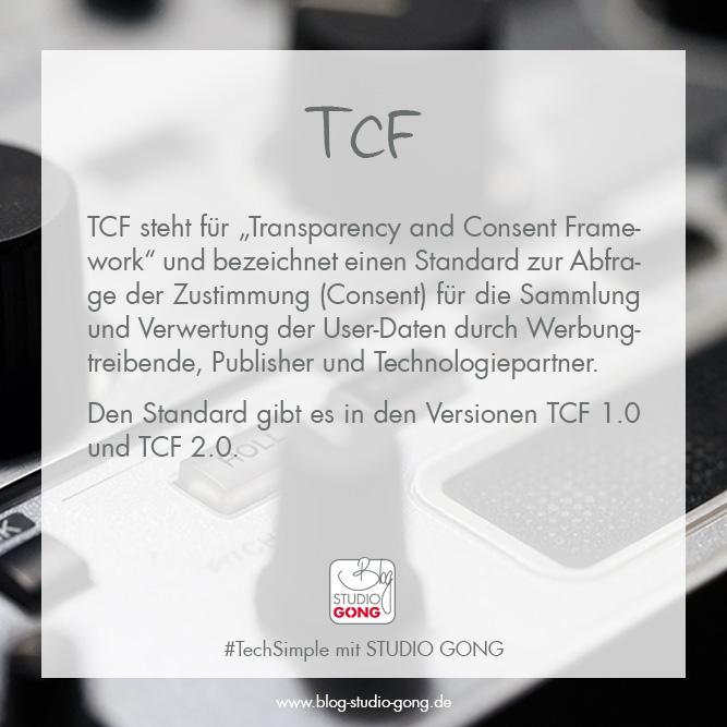 """Beitragsbild zum Artikel """"TechSimple - TCF"""""""