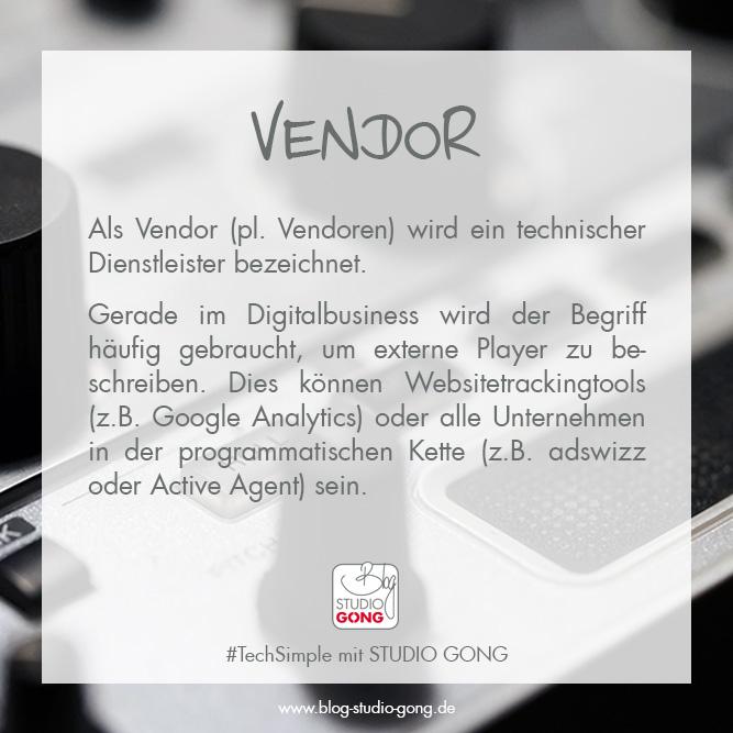"""Beitragsbild zum Artikel """"TechSimple - Vendor"""""""