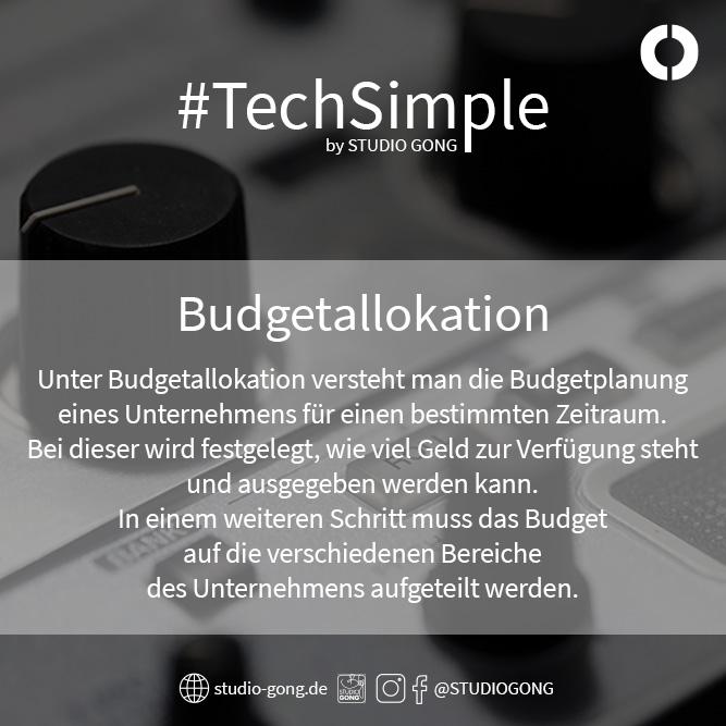 """Beitragsbild zum Artikel """"#TechSimple - Budgetallokation"""""""